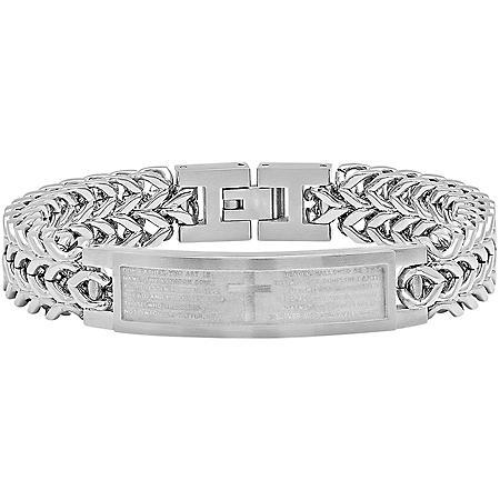 Stainless Steel Lord's Prayer ID Bracelet