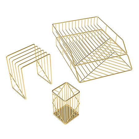 U Brands Gold Vena Desk Accessory Kit