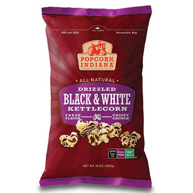 Popcorn Indiana Drizzled Black & White Kettlecorn (16 oz.)