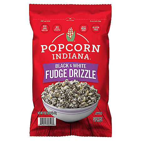 Popcorn, Indiana Drizzled Black and White Kettlecorn (17oz)