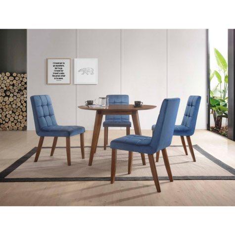 ROSIE 5PC NAVY BLUE 5PC DINING SET