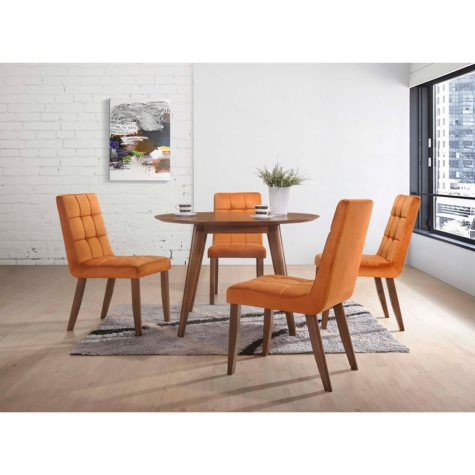 ROSIE 5PC ORANGE 5PC DINING SET