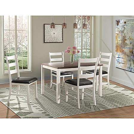 Kona 5-Piece Dining Set (Choose Height & Color)