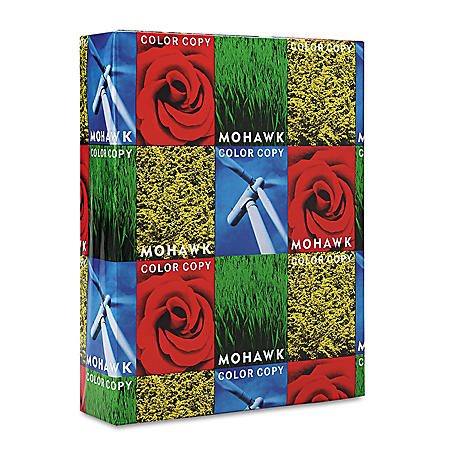 Mohawk - Copier 100% Recycled Paper, 96 Brightness, 28lb 8-1/2x11, White -  500 Shts/Rm