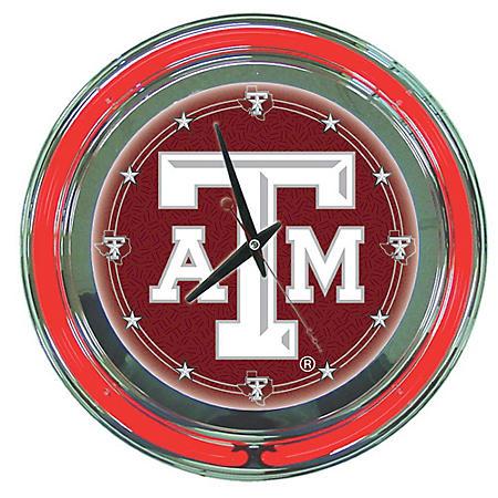 Texas A&M University Neon Wall-Mounted Clock