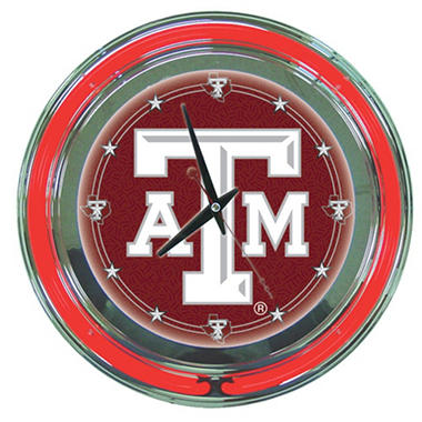Texas A&M University Neon Wall-Mounted Clock