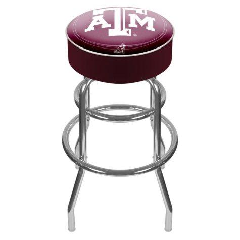 Texas A&M University Backless Bar Stool