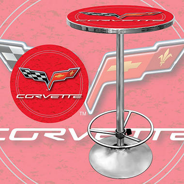 Corvette C6 Pub Table, Red (Assorted Colors)