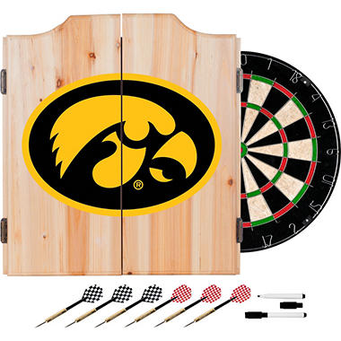 University of Iowa Dart Cabinet Set