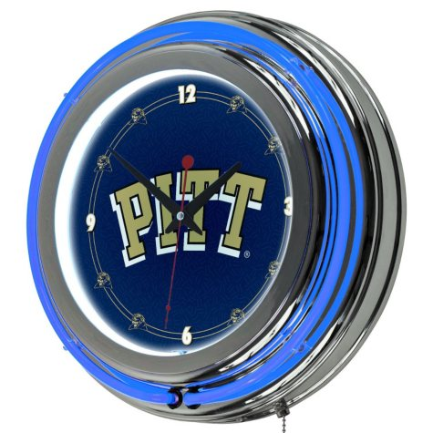 University of Pittsburgh Wall-Mounted Neon Clock