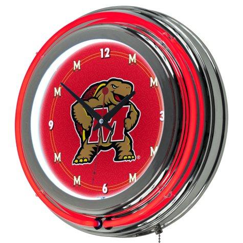 Maryland University Neon Wall-Mounted Clock