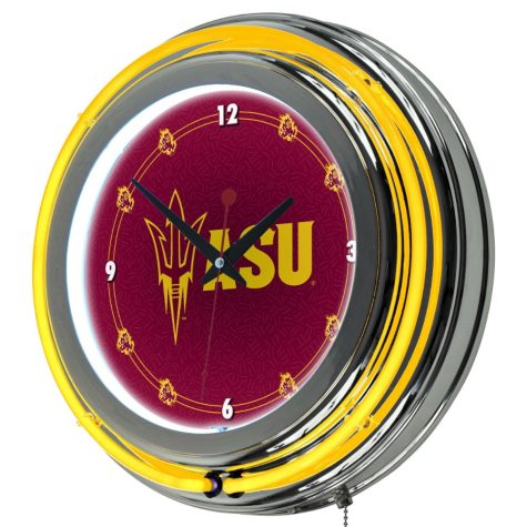 Arizona State University Neon Wall-Mounted Clock