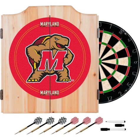 Maryland University Dart Cabinet Set