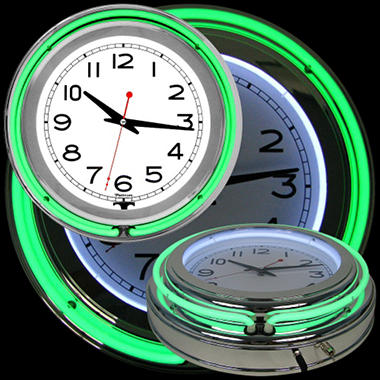 Neon Clock (Assorted Colors)