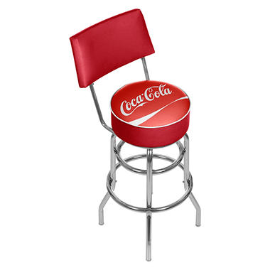 Coca Cola Bar Stool with Back (Assorted Styles)