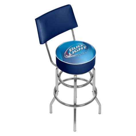 Bud Light Padded Bar Stool with Back (Assorted Styles)