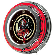 "Miller High Life Girl in the Moon 14"" Neon Clock"