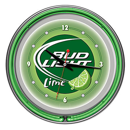 "Bud Light 14"" Neon Wall Clock (Assorted Styles)"