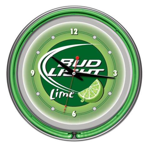 "Bud Light 14"" Neon Wall Clock (Assorted Styles)"