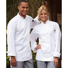 Chef Coat, White (SM, Fits 36-38 Chest)