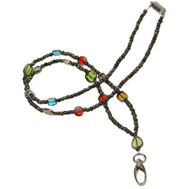 Stained Glass Beaded Lanyard