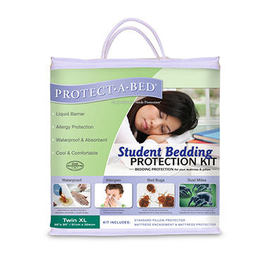 Protect-A-Bed Student Bedding Kit, Twin XL (Dust Mite and Bed Bug Protection)