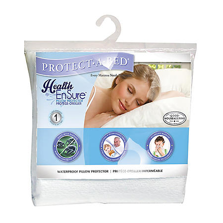 Protect-A-Bed Health-Ensure Pillow Protector, Waterproof (Assorted Sizes)