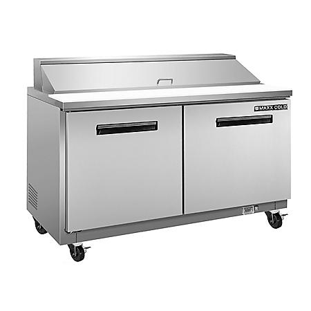 Maxx Cold X-Series Commercial Refrigerated Sandwich/Salad Station, Stainless Steel (15.5 cu. ft.)