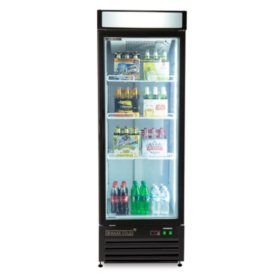 maxxium x series merchandiser refrigerator with glass door 23 cu ft - Refridgerator Glass Door