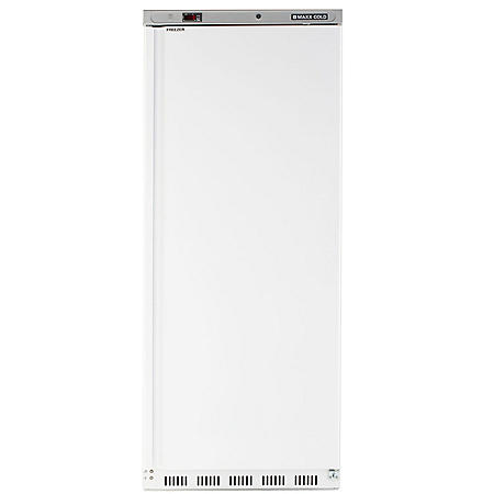 Maxx Cold Single Door Commercial Reach-In Freezer, White (23 cu. ft.)