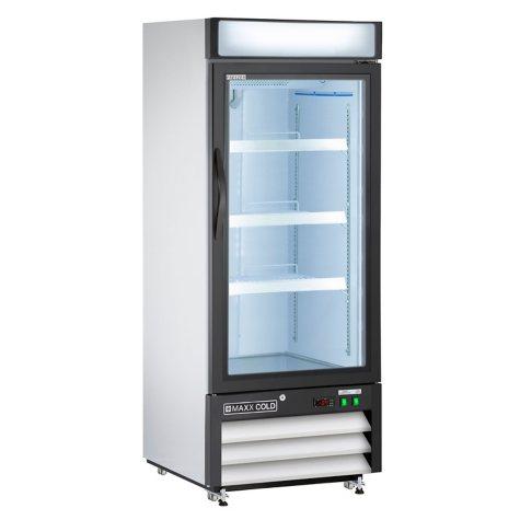 Maxx Cold X-Series Single Door Merchandiser Freezer, White (12 cu. ft.)