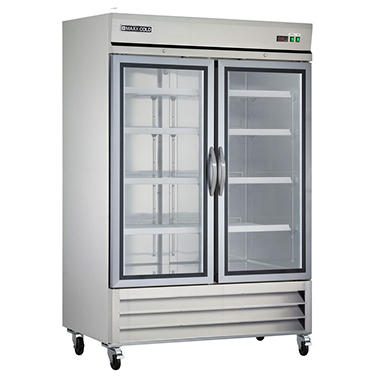Maxx Cold X Series Double Glass Door Commercial Refrigerator