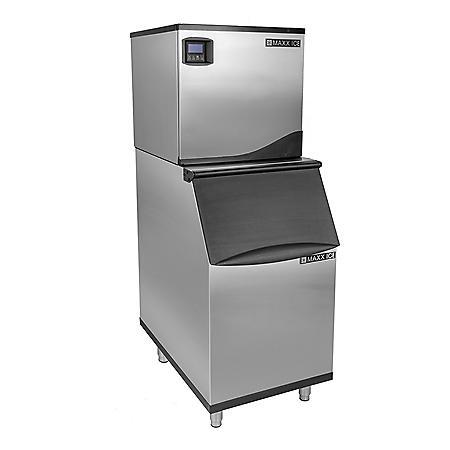 "Maxx Ice 22"" Wide 360 lb. Full Dice Ice Machine with 310 lb. Bin"