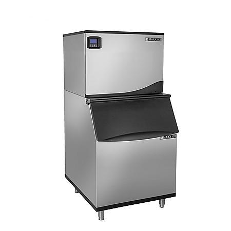 "Maxx Ice 30"" Wide 370 lb Half Dice Ice Machine with 470 lb Bin"