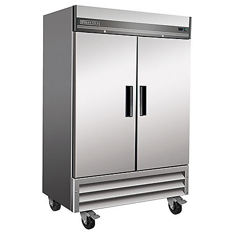 Maxx Cold X-Series Double-Door Commercial Reach-In Upright Refrigerator in Stainless Steel (49 cu. ft.)