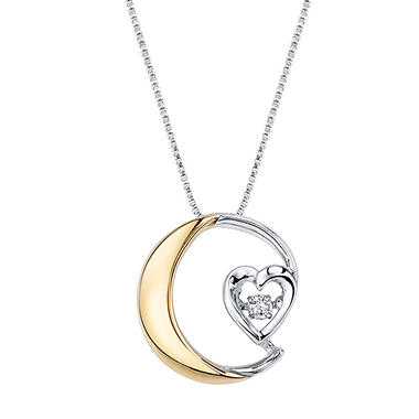 I love you to the moon and back necklace with gold plating in i love you to the moon and back necklace with gold plating in sterling silver mozeypictures Images