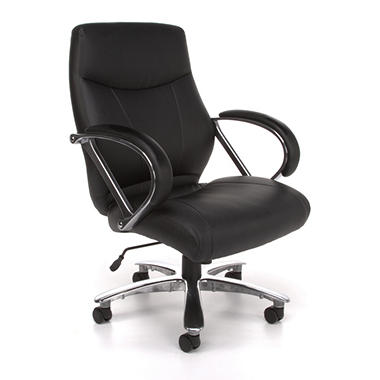 OFM Avenger Series Mid Back Big & Tall Chair - Black