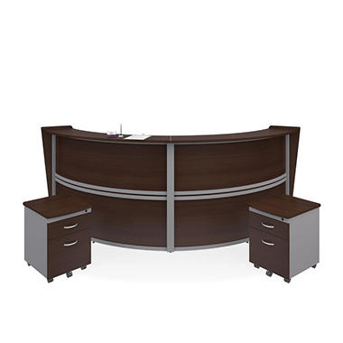 Marque Double Unit Reception Station With 2 Locking Drawer