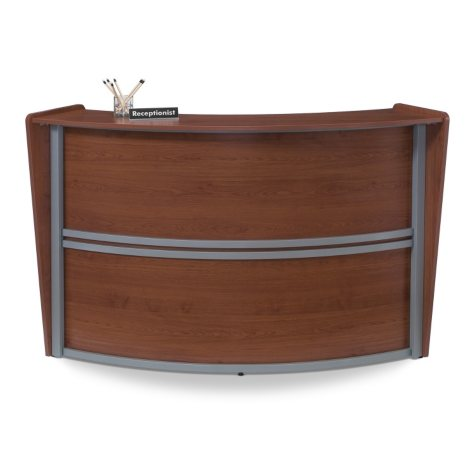 Reception Desk Wood Front, Cherry