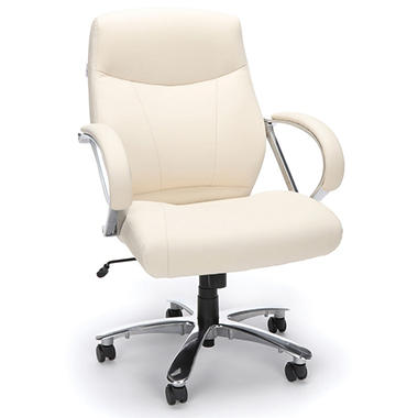 OFM Avenger Series Mid Back Big & Tall Chair - Cream