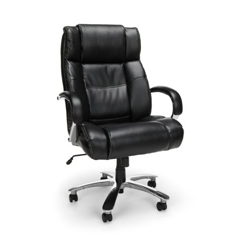 OFM Avenger Series Big & Tall Executive Chair, Black (Supports up to 500 lbs.)
