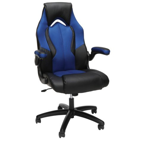 Essentials by OFM ESS-3086 High-Back Racing Style Leather Gaming Chair, Choose a Color