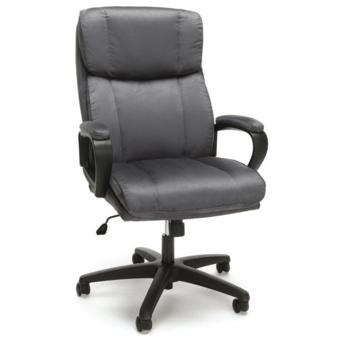 Essentials by OFM Plush High-Back Microfiber Office Chair, Model ESS-3081, Choose a Color