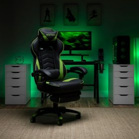 Respawn-110 Racing Style Gaming Chair, Reclining Ergonomic Leather Chair with Footrest, Office or Gaming Chair, Choose a Color (RSP-110)