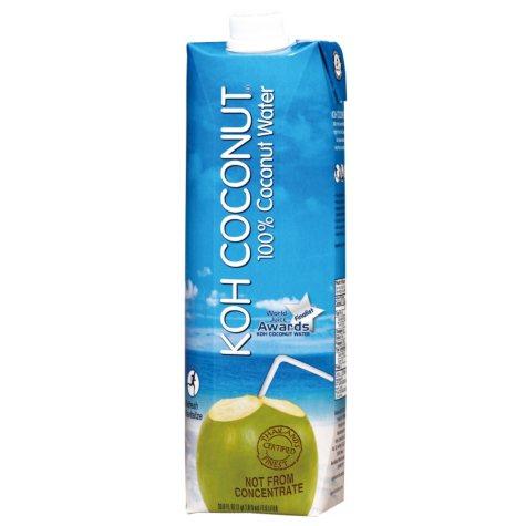 KOH Coconut 100% Coconut Water (1 L, 12 pk.)