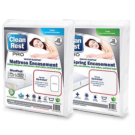 CleanRest Pro Bed Bug, Allergen, Dust Mite Encasement Set (Assorted Sizes)