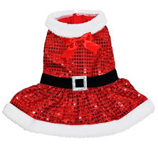 design LAB Mrs. Claus Sequin Holiday Dog Dress (Choose Your SIze)