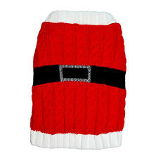 desin LAB Chunky Cable Knit Santa Dog Sweater (Choose Your Size)