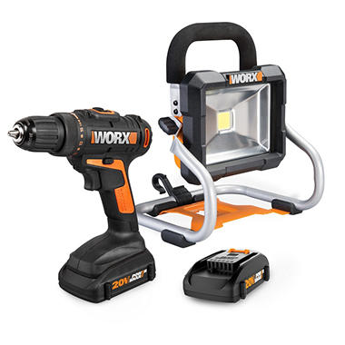 WORX 20V Li-Ion Drill and Worklight Combo Kit