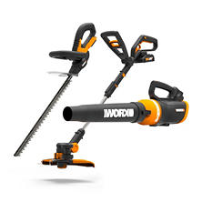 WORX 20V Li-ion 3-Piece Combo Kit (Trimmer, Hedge-Trimmer, and Blower)